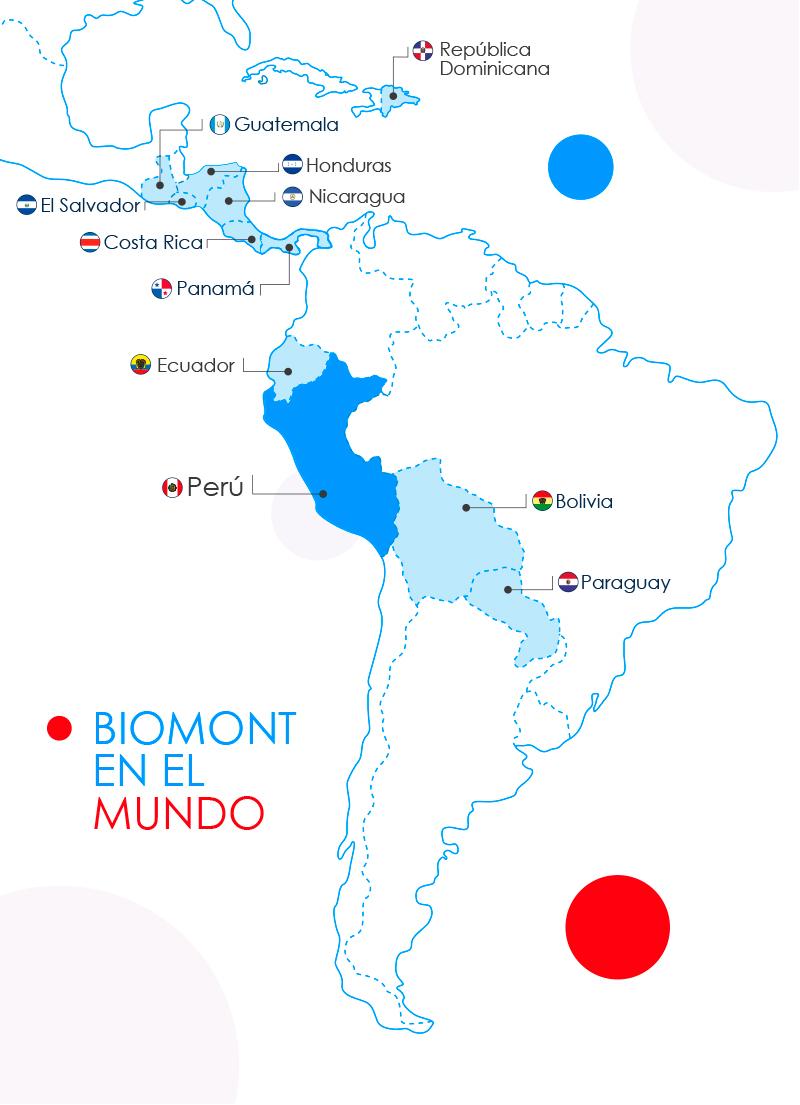 Mapa Distribuidores Internacionales
